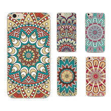 Vintage Coloful Mandala Flower Back Case Coque For Apple Iphone 6 6s Luxury Soft Silicone Tpu Phone Cover