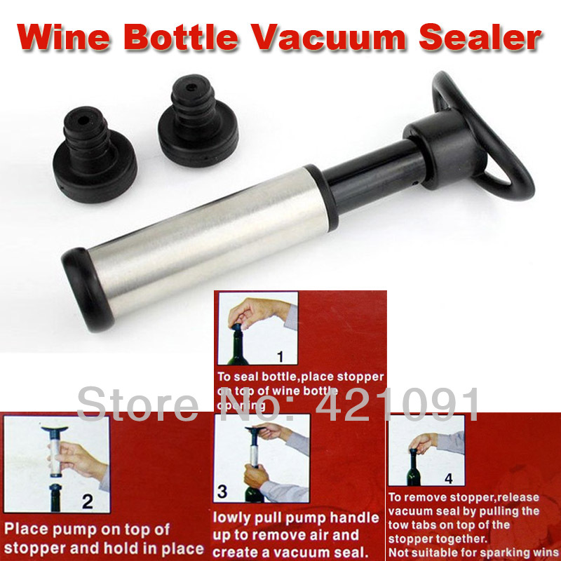 Wine Bottle Vacuum Sealer, Wine Bottle Saver Vacuum Preserver Pump Sealer Bar Stopper Free Shipping+Retail Package(China (Mainland))