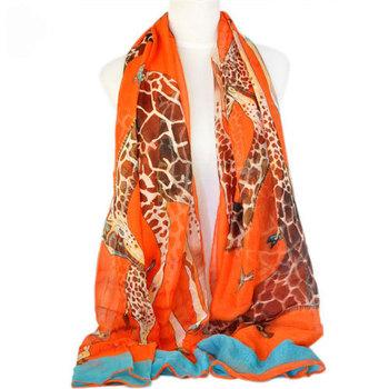 Fashion 2015 women scarf animal print Giraffe pattern spring & autumn animal large size shawl scarf  ,NL-1862