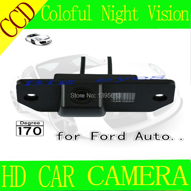 "CCD 1/3"" Car Rear view Parking Back Up Reversing Camera For Ford Focus Sedan (2) (3)/08/10 Focus Night vision(China (Mainland))"