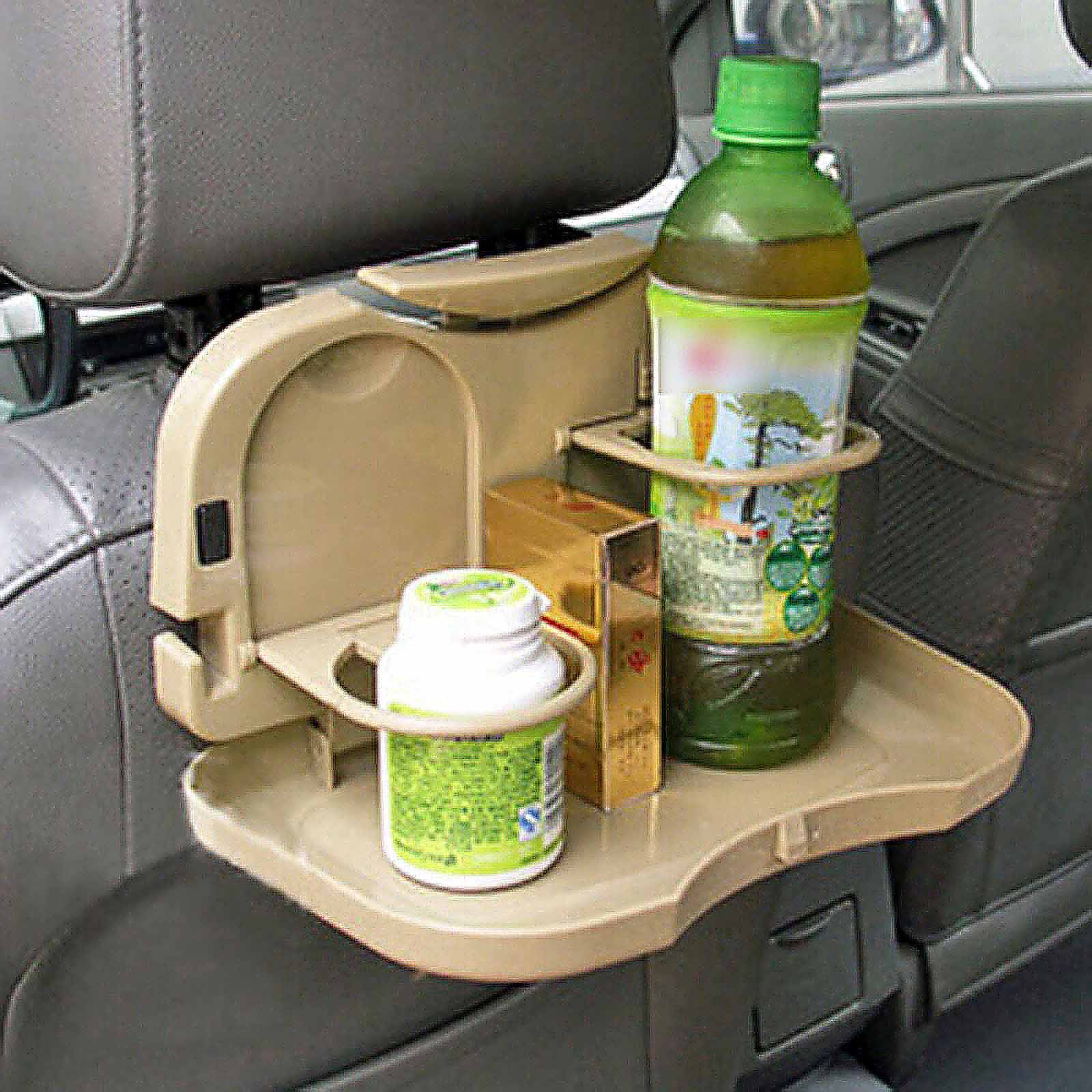 Auto Car Travel Plastic Foldable Meal Drink Cup Tray Holder Mini Dining Table Random Color(China (Mainland))