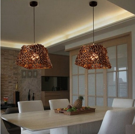Здесь можно купить  Nordic Creative Hand Woven Tree Root Droplight Retro LED Pendant Light Fixtures For Dining Room Ikea Hanging Lamp Home Lighting Nordic Creative Hand Woven Tree Root Droplight Retro LED Pendant Light Fixtures For Dining Room Ikea Hanging Lamp Home Lighting Свет и освещение