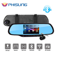 Phisung 5 0 Touch Dual Cam Car DVRS with 1GB RAM 8GB ROM WiFi FM GPS
