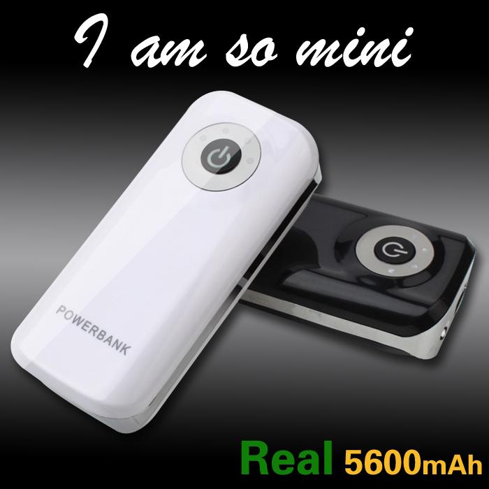 High quality Portable Charge power bank Mobile External Battery powerbank 5600mAh carregador de bateria portatil for all phone(China (Mainland))
