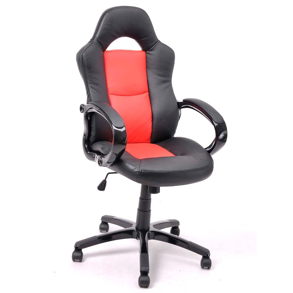 Height Adjustable Office Task Computer Chair With Arms Pu Big Computer Chair