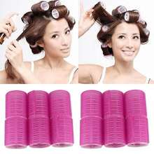 Delicate 12pcs/lot  Women Cosmetic Hair Style Tools Salon DIY 4.9cm DIA  Velcro Cling Rollers Curlers Hair Rollers(China (Mainland))