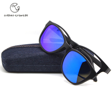CHASING 2016 fashion Polarization polavized lens Man  TR90 magnet clip glasses myopia glasses frame driving sunglasses CS2015S