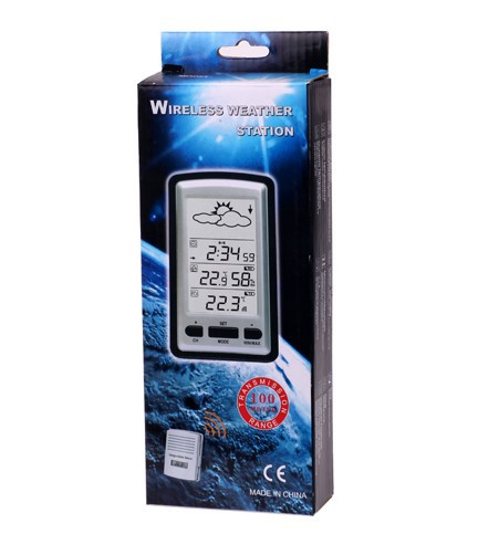 digital lcd smart weather station remote sensor with clock temperature with wireless sensors. Black Bedroom Furniture Sets. Home Design Ideas