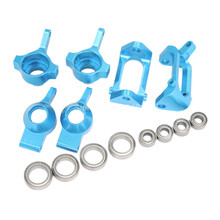 Buy Aluminum Front Rear Steering Hub Base C Carrier Ball Bearings Upgrade Kit Wltoys A959 Vortex 1/18 Electric RC Car Buggy Part for $15.92 in AliExpress store