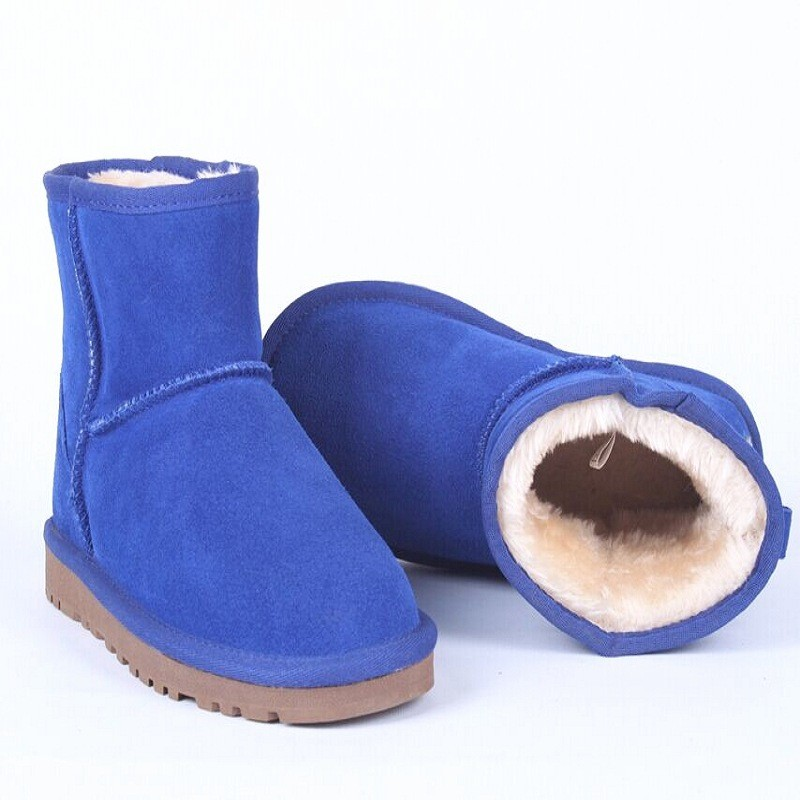 2017 Winter Girls Women Boots Fashion Genuine Leather Woman Bebe Boot Chaussure Enfant Fille Cocuk Warm Snow Australian Boots