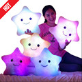 Promotion 38cm 35cm Star Led Light Pillow Cute Star Luminous Pillow with Colorful Light Birthday Valentine