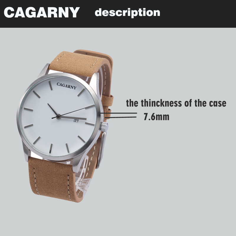 top luxury brand cagarny quartz watches for men watch vogue leather watchband dropshipping  22 (4)