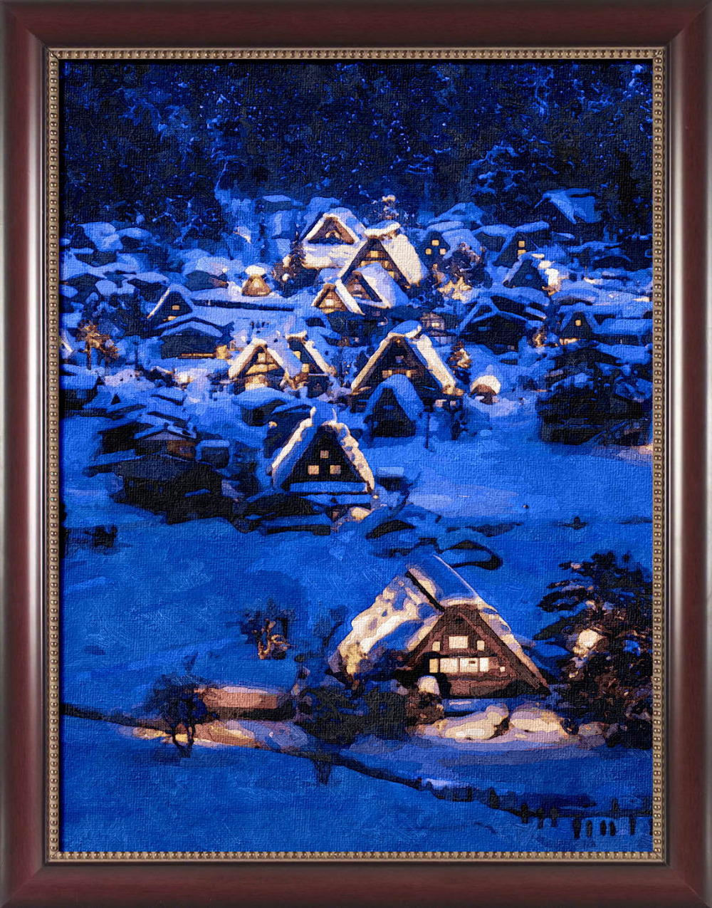 Framed painting by number coloring by numbers for home decor hand painted canvas painting 4050 night in winter