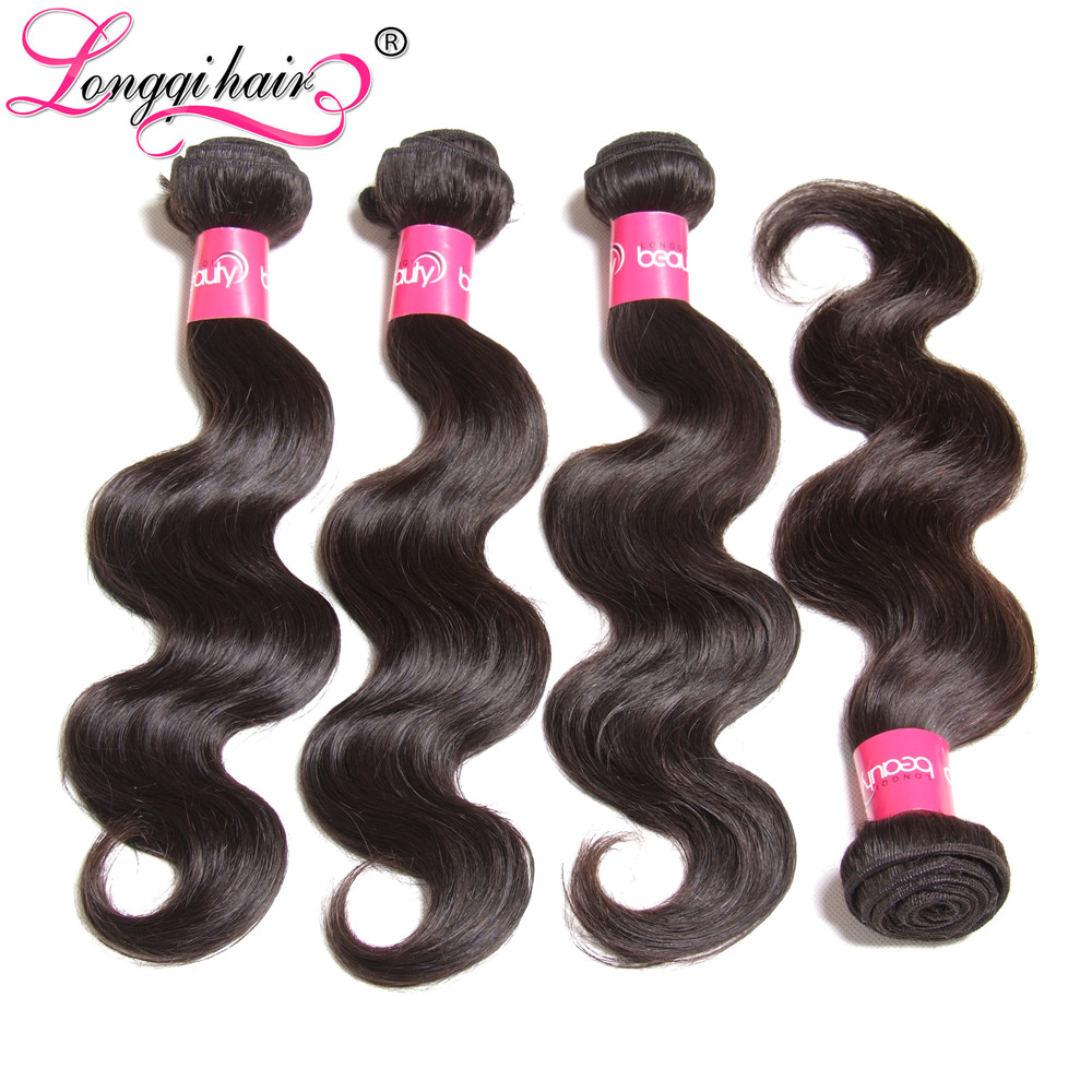 Alibaba Brazilian Virgin Hair 4 Bundles Body Wave Human 7A Unprocessed Lot - Xuchang Longqi Beauty Products Co., Ltd. store