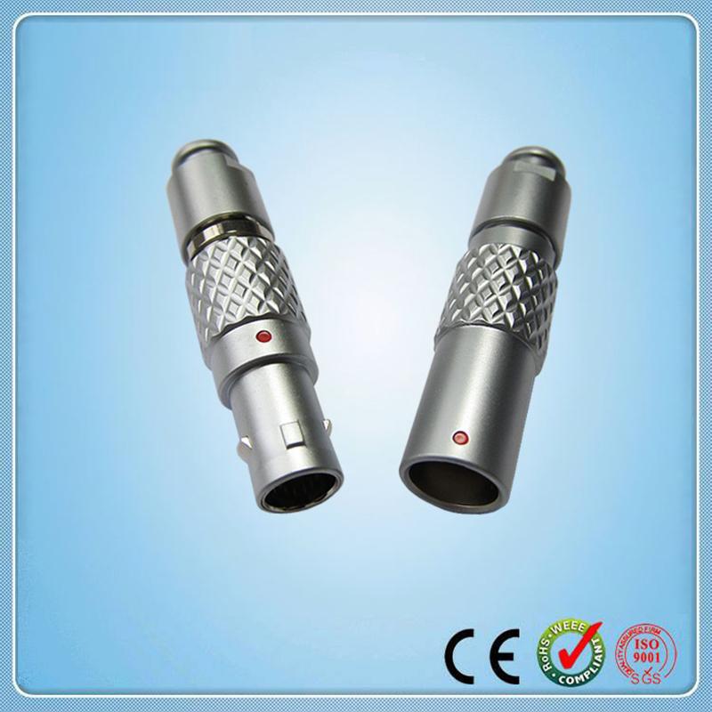 LEMO Connector, Metal electrical push pull plug free receptacle,Cross LEMO 1B series FGG.1B.303 PHG.1B.303