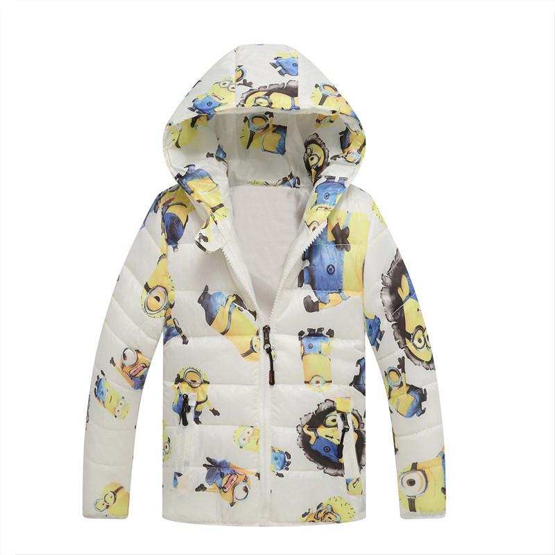 Winter Children Jackets Boys Girl down coat for 3-10 yrs cartoon fashion Baby Warm Coat Kids hooded Coats for boys(China (Mainland))