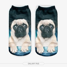 2015 Hot Free Shipping Popular 3D Attractive Women and Men Pug / French Bulldogs / 3D Printed Socks
