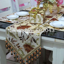 new high quality velvet fabric table runner w/tassel (or table cloth, placemat,cushion cover, tissue box cover)(China (Mainland))