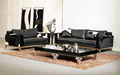 2+3 seat/lot genuine leather modern leisure combinational wood cheers living room sofa set couch home furniture