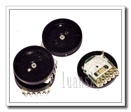 Double Gear Potentiometer 10K 16*2MM 5Pin Dial 5  -  luna sky store