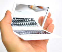 New fashion Mini Silver Pocket Laptop Clear Glass Women Cosmetic Beauty Mirror(China (Mainland))