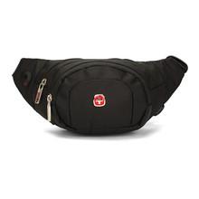 1 pic Black Red Outdoor Running Waist Bag Fashion Sport Fanny Pack Travel Bum Belly Men Multi-pocket Belt Bag
