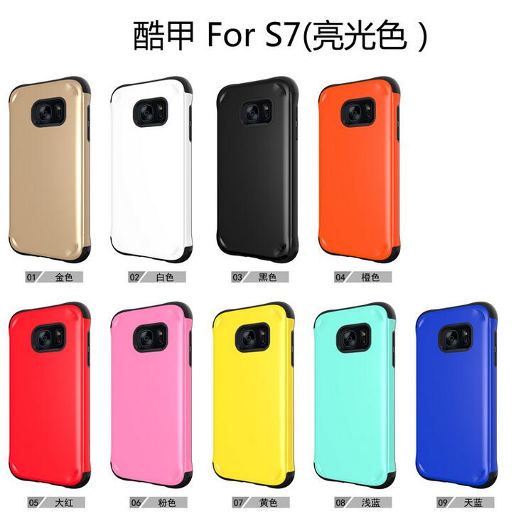 Здесь можно купить  100pcs/lot* Stylish Design 2 in 1 TPU + PC Anti-Shock Protection Back Case For Samsung Galaxy S7, Mix color accept 100pcs/lot* Stylish Design 2 in 1 TPU + PC Anti-Shock Protection Back Case For Samsung Galaxy S7, Mix color accept Телефоны и Телекоммуникации