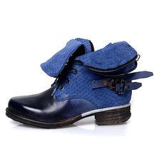 Prova Perfetto Hoge Kwaliteit Doen Oude Natuurlijke Lederen Lage Hakken Enkel Laarzen Voor Vrouwen Motorfiets Mode Snake Skin Patroon Laarzen(China)