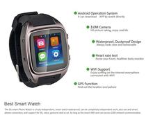 2015 Best Smart Watch 1.54″ SIM+SOS+GPS+WiFi+BT all in one Waterproof Dustproof Watch Phone Android Smart Watch
