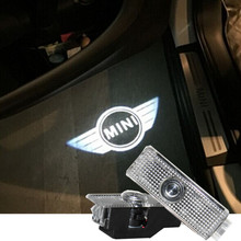 2X Car Door Logo Welcome Courtesy Shadow Ghost Lamp Projector Light for BMW Mini(China (Mainland))