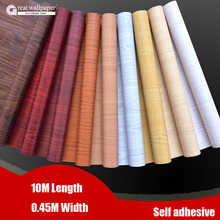 Great wall Waterproof fabric stickers roll wallpaper furniture wood grain paper self adhesive film wardrobe door stickers