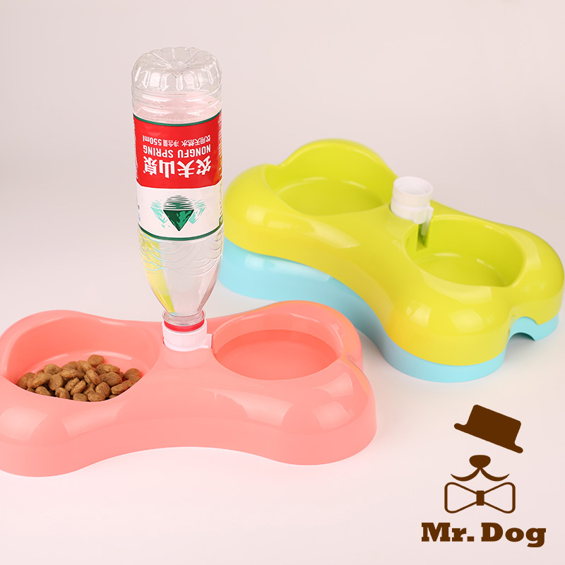 Automatic Small Dog Feeder Pet Cat Water Dispenser Bowl Plastic Fountain Food Dish For Dogs Cats(China (Mainland))