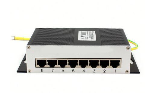 Free shipping 8 channel RJ45 network surge protector IP SPD