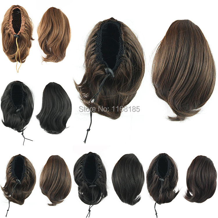 1PC 55g 10inch Cute Short Synthetic Drawstring Ponytail