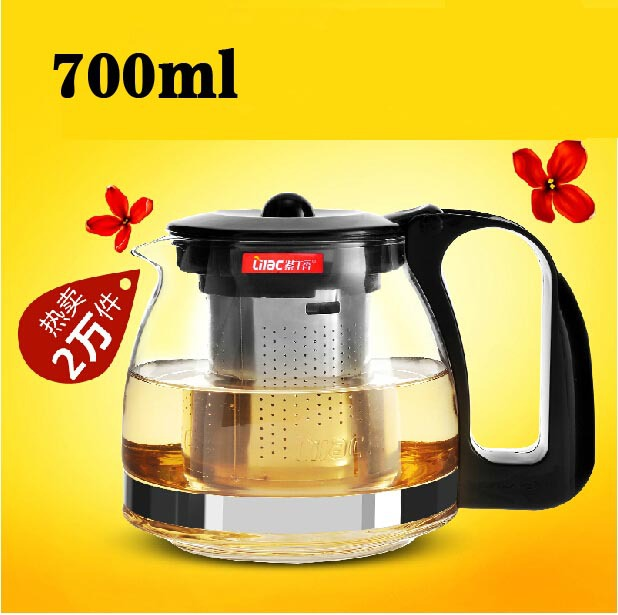 Promotion 700ml Glass Teapot 2 Kinds Heat Resistant Glass Tea Pot For Your Choose High Quality