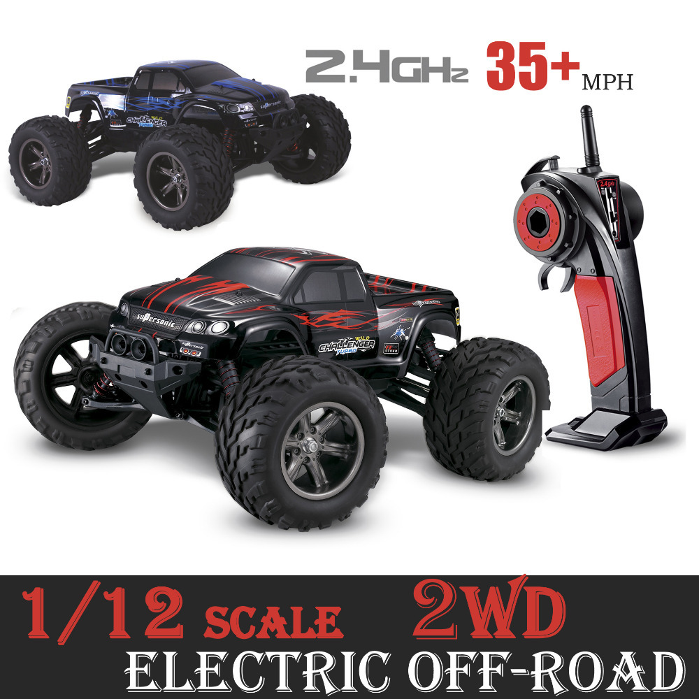 GPTOYS S911 1/12 2WD 35+MPH 40km/h 1/12 Scale Electric RC Car 2.4Ghz 2WD High Speed Remote Controlled Off Road Cars moster truck(China (Mainland))