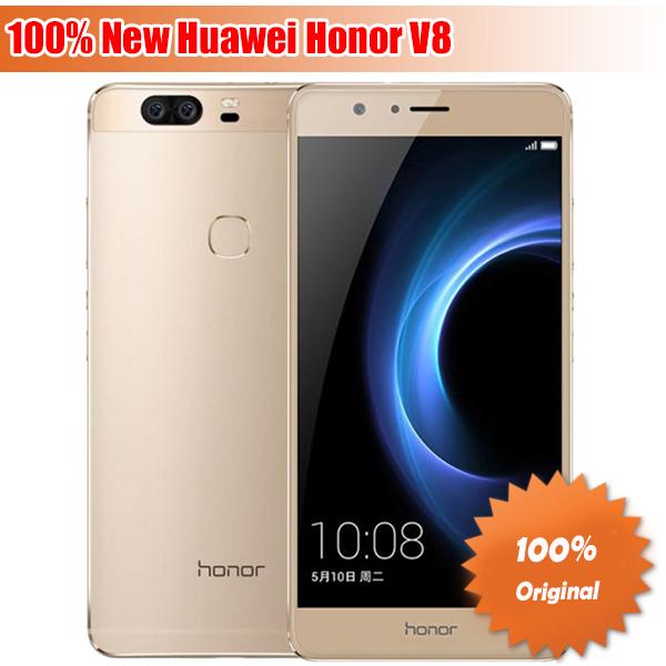 "Original Huawei Honor V8 4G LTE Mobile Phone Octa Core 4G RAM 32/64G ROM 5.7"" 2K Screen Dual Rear 12.0MP Camera SmartPhone(China (Mainland))"