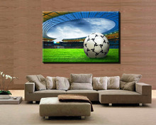 1 Pcs Football  Modern Home decoration Wall  painting Canvas picture Art HD Print Painting for bedroom gift(China (Mainland))