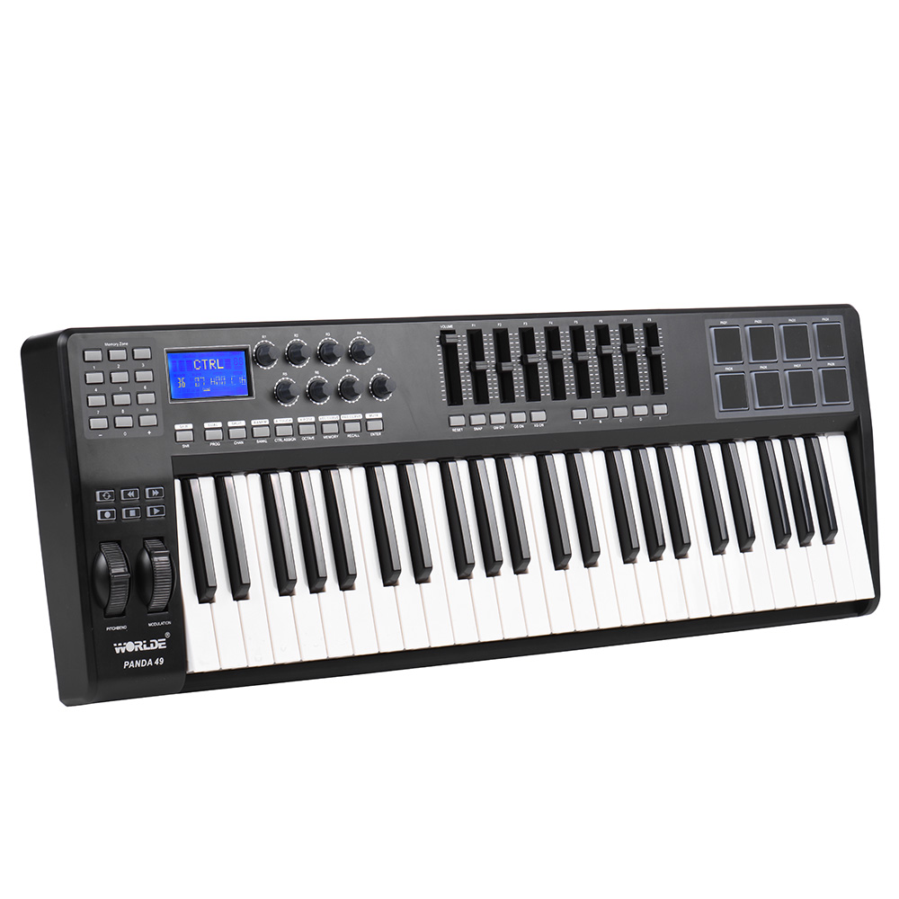 PANDA49 49-Key USB MIDI Keyboard Controller 8 Drum Pads with USB Cable(China (Mainland))