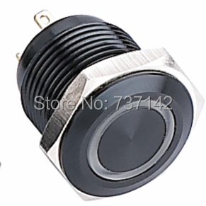 ELEWIND 16mm Ring illuminated momentary push button switch (PM161F-10E/J/B/2.8V/A)(China (Mainland))