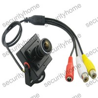 2.1mm Wide Angle Mini HD 600TVL 1/3 CMOS Security Audio/Video Color CCTV Camera with MIC