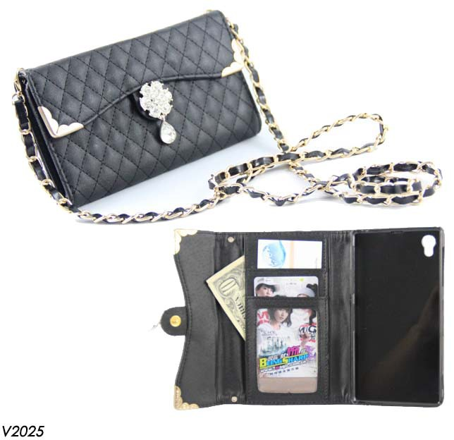 1 Piece Sony Xperia Z1 Case.Lady Fashion Check Plaid PU Leather Wallet Case Daimond Flip Cover L39h - Shenzhen Voguefeel Electronics Co., Ltd store
