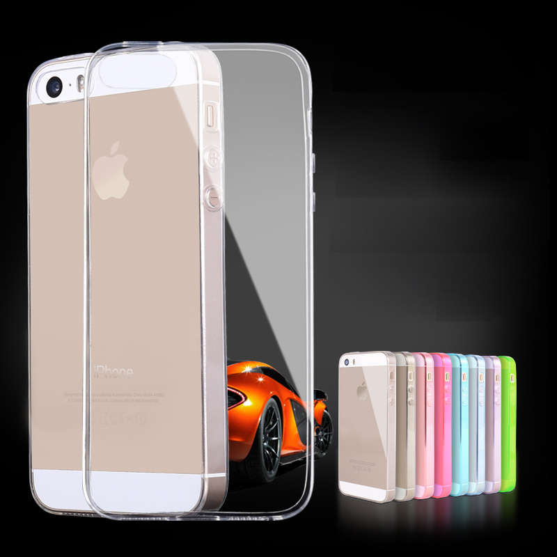 luxury phone cover 5 transparent case s for apple iphone 5s iphone5s i5 soft waterproof by i pink cases for iphone5 phone5 para(China (Mainland))