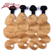Buy Ombre Brazilian Virgin Hair Body Wave 4 Bundles Lot Cheap Virgin Ombre Brazilian Hair Honey Blonde Color 1b 27 Ombre Human Hair for $82.84 in AliExpress store