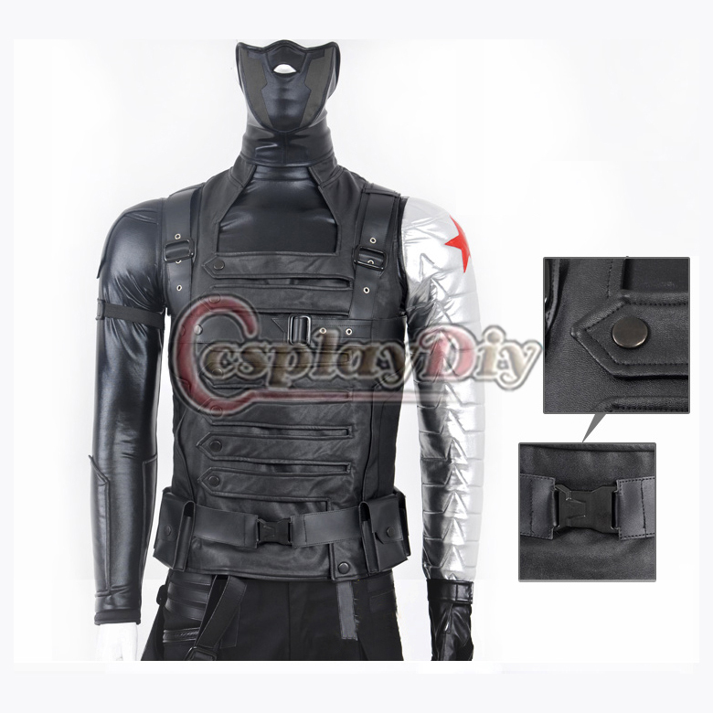 Custom Made Movie Captain America The Winter Soldier James Buchanan Barnes Bucky Outfit Adult Cosplay CostumeÎäåæäà è àêñåññóàðû<br><br>