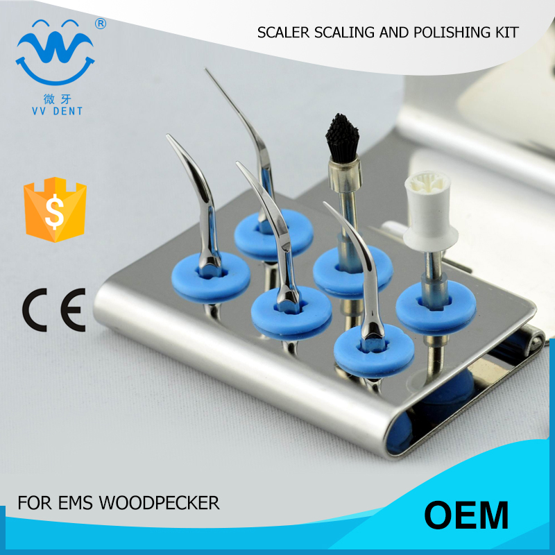 ESPKS teeth polishing and scaling dental kit fit EMS Piezon Master 700 and woodpecker scaler for teeth whitening(China (Mainland))