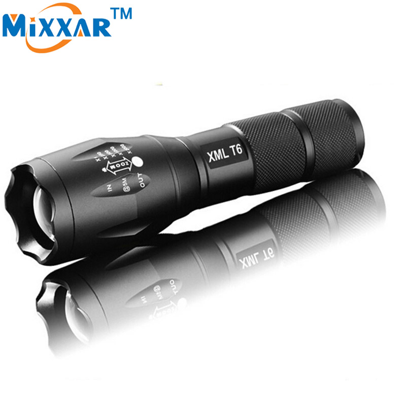 zk90 CREE XM-L T6 4000Lumens LED Flashlight Cree LED Torch Light for 18650 or 3xAAA rechargeable Battery Camping,climbing,huntin(China (Mainland))