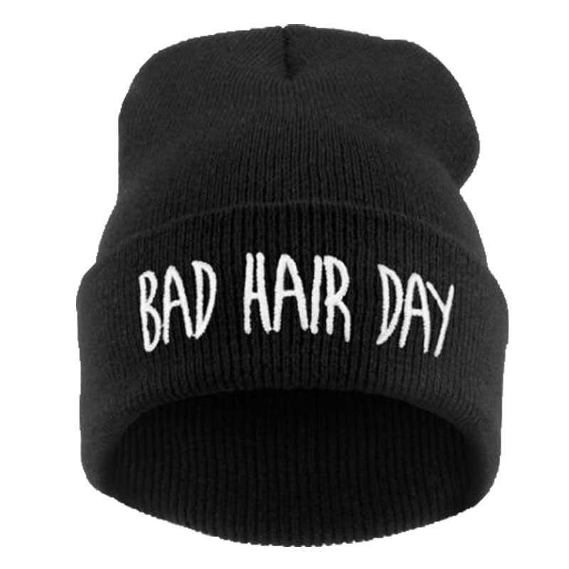 21 Colors BAD HAIR DAY Neon Fashion Elastic Beanie 2015 Men Bonnet Winter Skullies Cap Knitted Hats For Women Casual Gorro(China (Mainland))