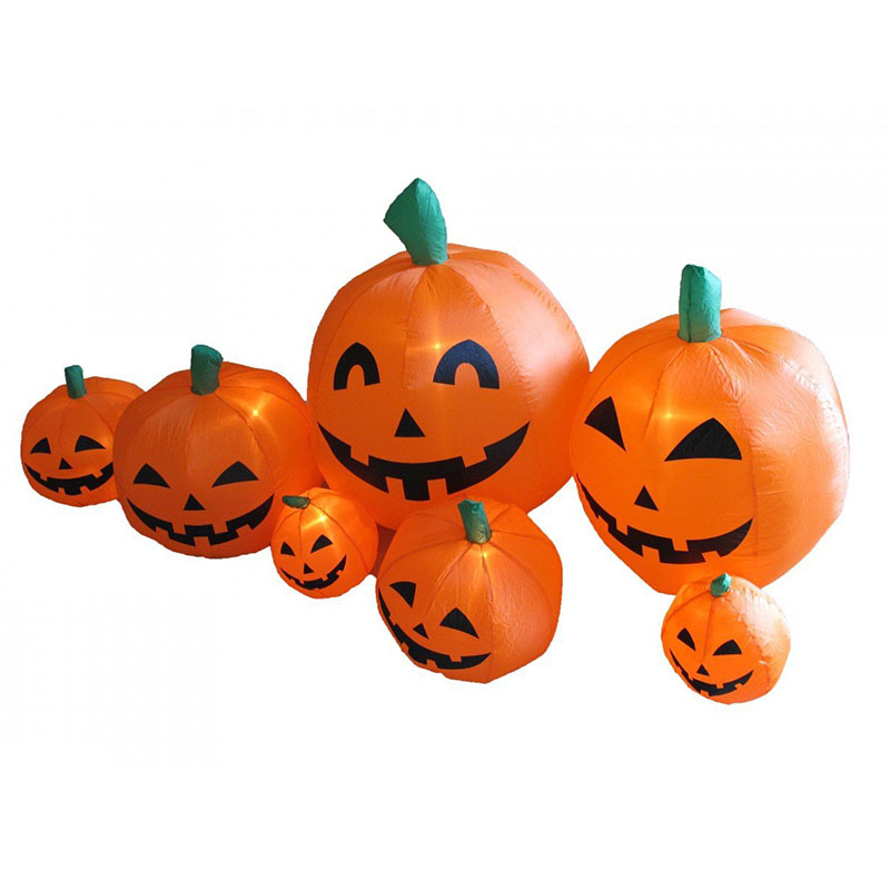 7pcs lovely Inflatable Halloween Pumpkin for Event Party Decoration with Lights 220V (EU Plug) LS(China (Mainland))