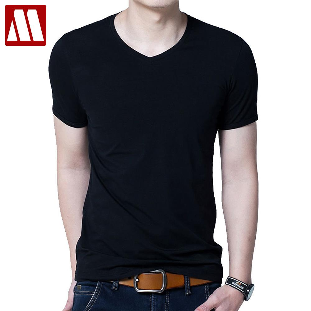 Buy male solid color t shirts men 39 s v for Mens colored t shirts